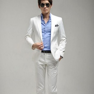 Sq Manwedding Dresses Slim White Suit Jacket For Men