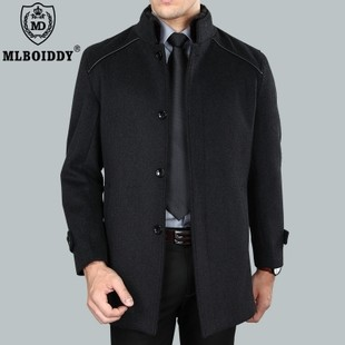 wool men's long trench coatmen's business casual thicker coats