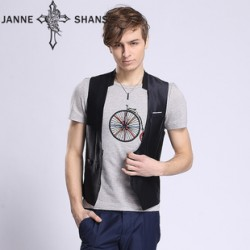 [SQ Man]summer new style vest,temperament short leisuremen's slim fit vest