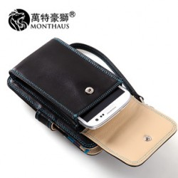 [SQ Man]men's leather hand bags,multifunctional women's cell phone bags,card wallet