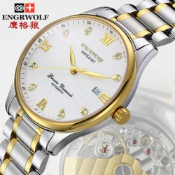 [SQ Man]Switzerland the Eagle Wolf ultra-thin watches,automatic mechanical watches,men's waterproof vintage rhinestone watches