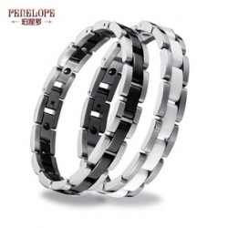[SQ Man]couple bracelet in black and white lettering upscale birthday jewelry
