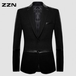 [SQ Man]ZZN, autumn wear, leisure suits of wool coat men, mens coat, slim, Korean version, tidal