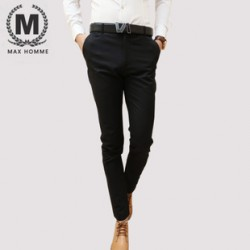 Max,Homme, autumn collects new, Korean men''s trousers trousers, slim tide male feet pants trousers