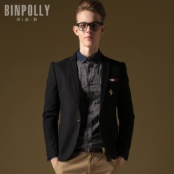 [SQ Man]BINPOLLY,2013 autumn men''s colleges of England Korean small wind suits, slim fit suits, and XZ6681