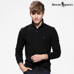 [SQ Man]Dances with wolves long sleeve POLO shirt, 2013 new autumn wear, men''s authentic, stylish and colorful t-shirt, 6,011