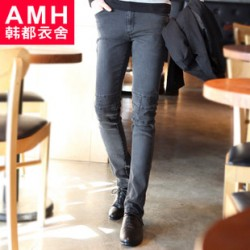 [SQ Man]AMH menswear Korea 2013 fall crushed new Korean men skinny jeans OC2156 buckwheat