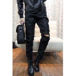 [SQ Man]Clothing, trendy Brit punk zipper opening in Europe and America foot low-rise men''s casual pants, men''s